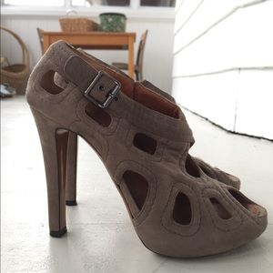 Givenchy Suede Taupe Heels